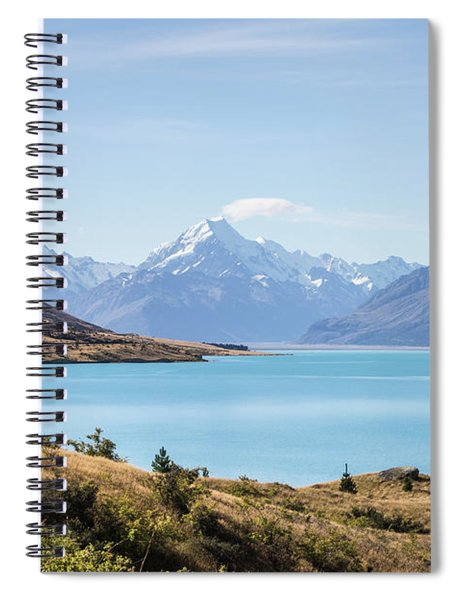 Stunning View Of Lake Pukaki And Mt Cook  Spiral Notebook