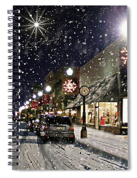 Sturgeon Bay On A Magical Night Spiral Notebook