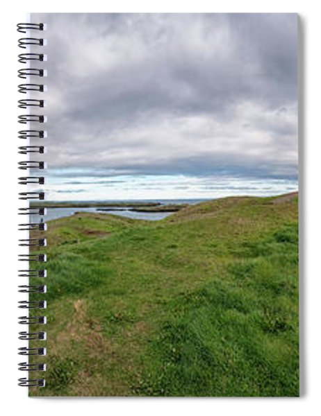 Stykkisholmur Harbor Pano Spiral Notebook