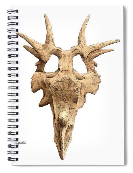 Styracosaur Skull Spiral Notebook