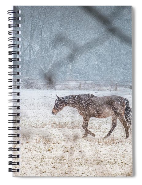 Suburb Of Hamburg.snow Spiral Notebook