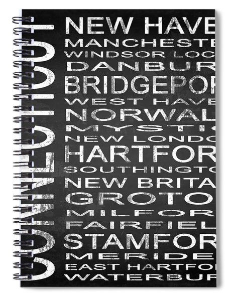 Subway Connecticut State Square Spiral Notebook