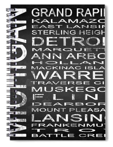 Subway Michigan State Square Spiral Notebook