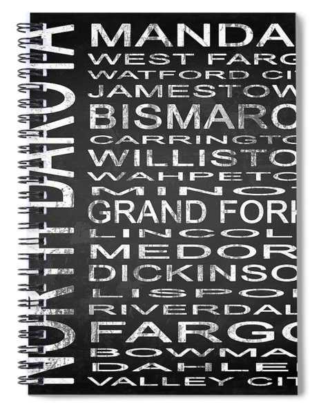 Subway North Dakota State Square Spiral Notebook