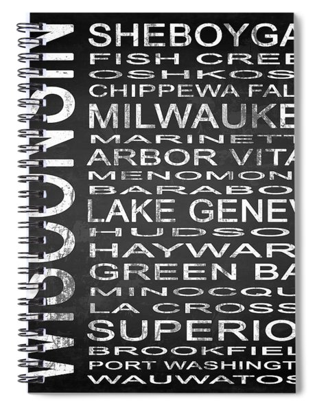 Subway Wisconsin State 2 Square Spiral Notebook