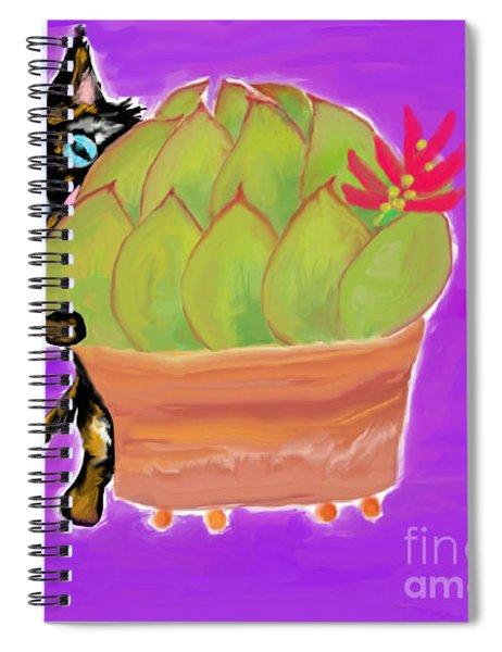 Succulent Calico Cat  Spiral Notebook