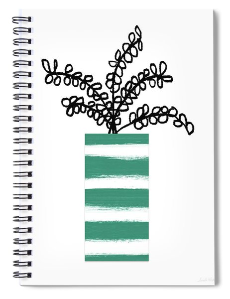 Succulent In Green Pot 1- Art By Linda Woods Spiral Notebook by Linda Woods