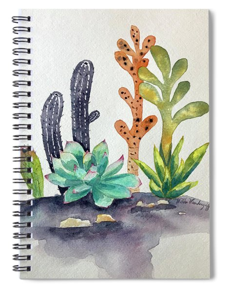 Succulents Desert Spiral Notebook