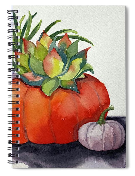 Succulents In Pumpkin Spiral Notebook