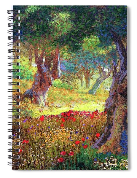 Poppies And Olive Trees Spiral Notebook