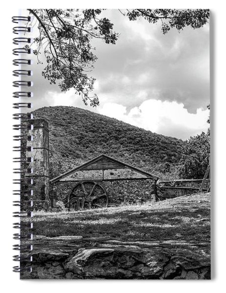 Sugar Plantation Ruins Bw Spiral Notebook