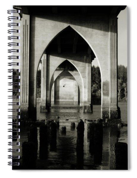 Suislaw River Bridge In Florence Oregon Spiral Notebook