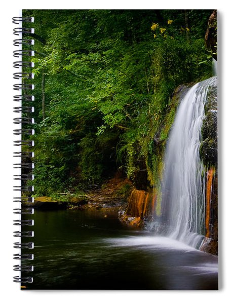 Summer At Wolf Creek Falls Spiral Notebook