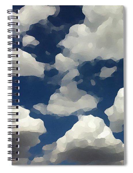 Summer Clouds In A Blue Sky Spiral Notebook