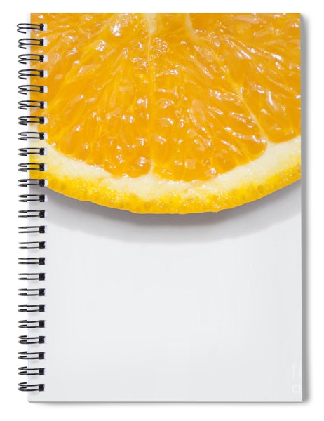 Summer Fruit Orange Slice On Studio Copyspace Spiral Notebook