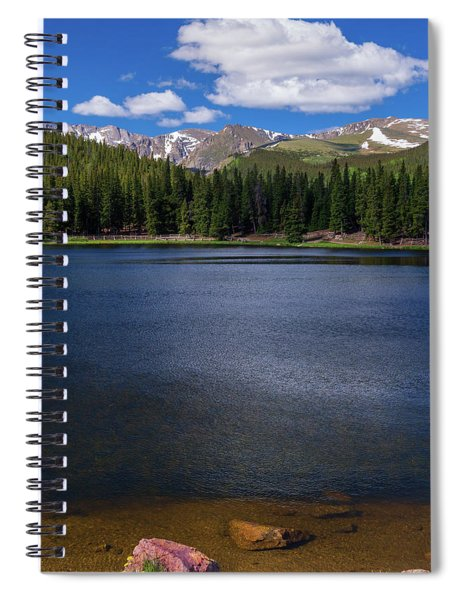 Spiral Notebook featuring the photograph Summer In The Rockies by John De Bord