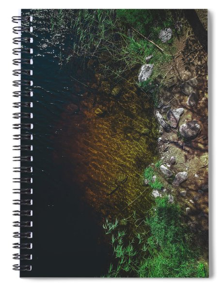 Summer Lake - Aerial Photography Spiral Notebook