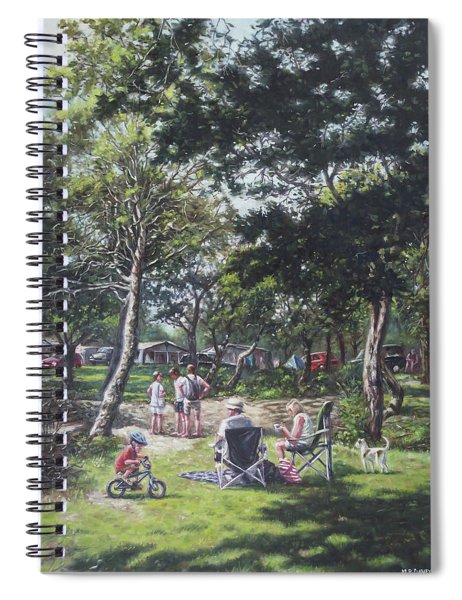 Summer New Forest Picnic Spiral Notebook