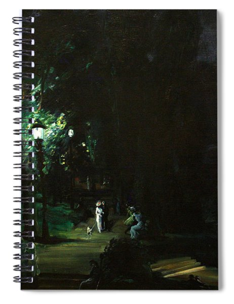 Summer Night Riverside Drive Spiral Notebook