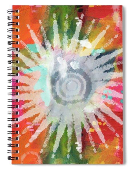 Summer Of Love- Art By Linda Woods Spiral Notebook