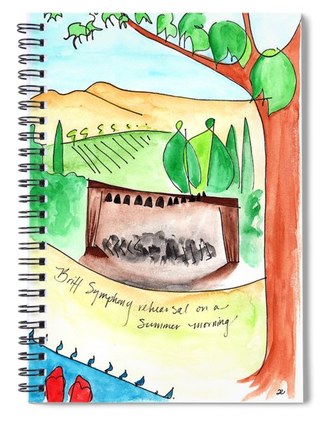 Summer On Britt Hill Spiral Notebook