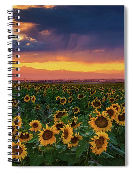 Spiral Notebook featuring the photograph Summer Radiance by John De Bord
