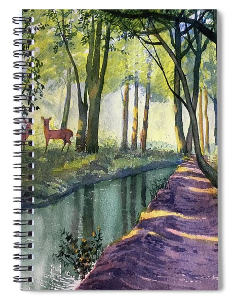 Summer Shade In Lowthorpe Wood Spiral Notebook