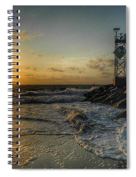 Summer Sunrise At Ocmd Inlet Spiral Notebook