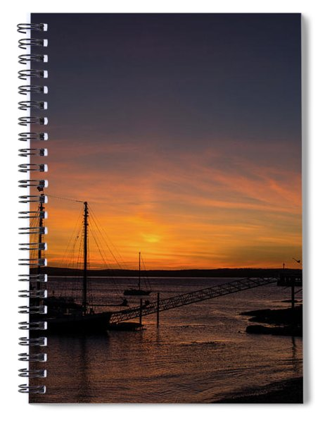 Summer Sunrise In Bar Harbor Spiral Notebook