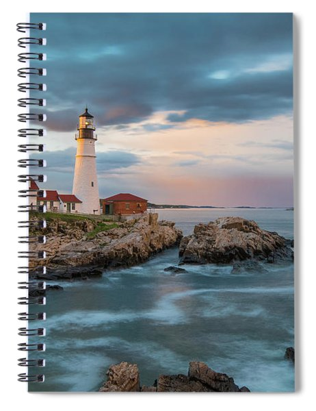 Summer Sunset At Portland Head Light Spiral Notebook