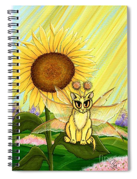 Summer Sunshine Fairy Cat Spiral Notebook