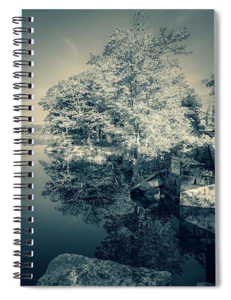 Summer Time Blues Spiral Notebook
