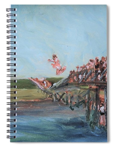 Summertme On The Boardwalk Spiral Notebook