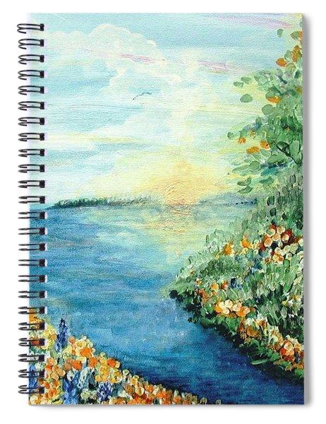 Sun And Moon Spiral Notebook