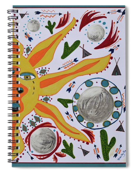 Sun And Moons Spiral Notebook
