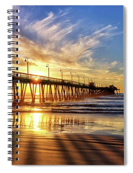 Sun And Shadows Spiral Notebook