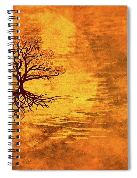 Sun Beams On The Tree Of Life Spiral Notebook