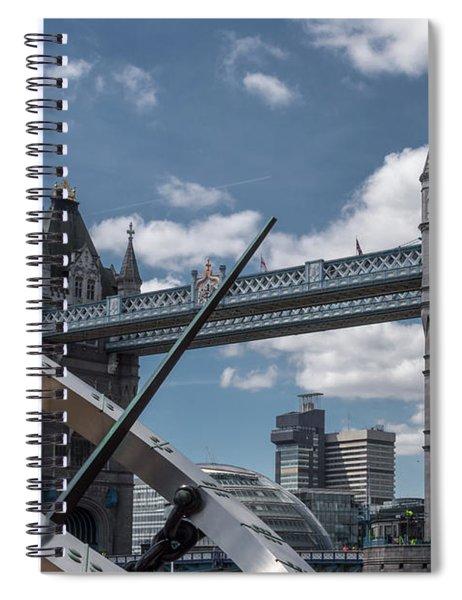 Sun Clock With Tower Bridge Spiral Notebook