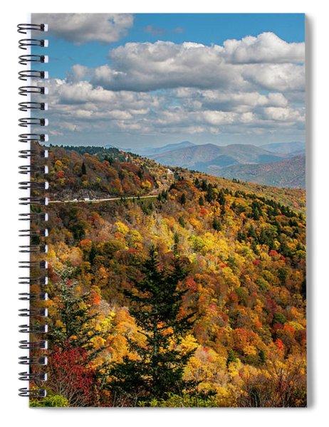 Sun Dappled Mountains Spiral Notebook