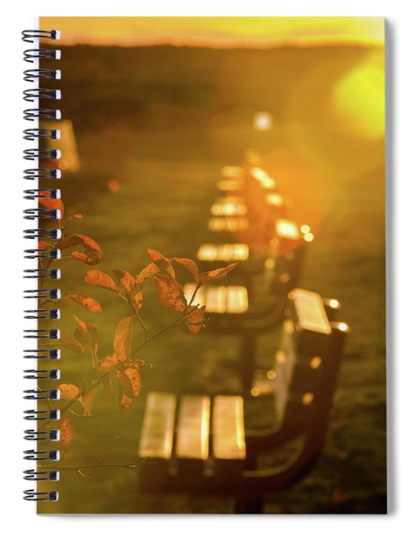 Sun Drenched Bench Spiral Notebook