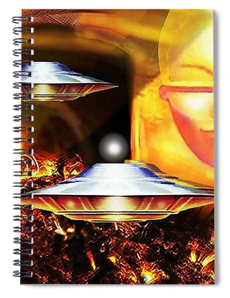 Sun Explorers  Spiral Notebook