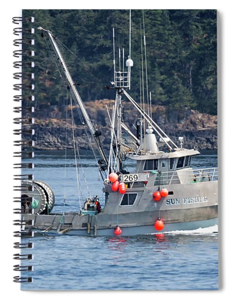 Sun Fisher Off Campbell River Spiral Notebook