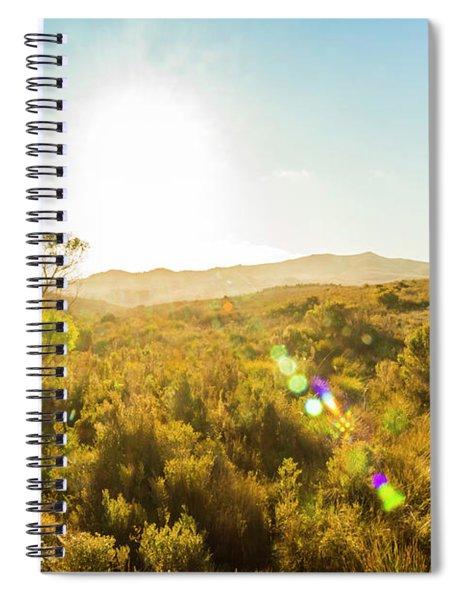 Sun Flare Prairie  Spiral Notebook