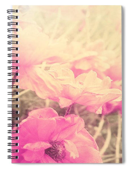 Sun Haze Poppies Spiral Notebook