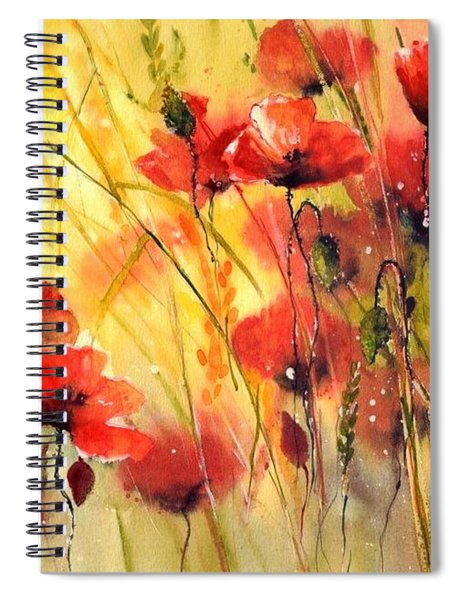 Sun Kissed Poppies Spiral Notebook