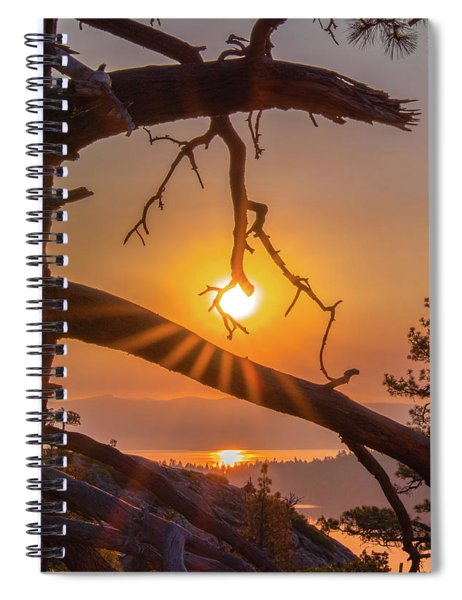 Sun Ornament - Cropped Spiral Notebook