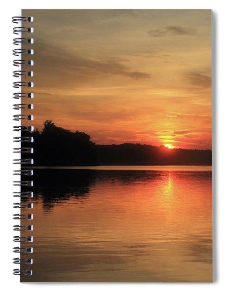 Sun Peeking Over The Treetops Spiral Notebook