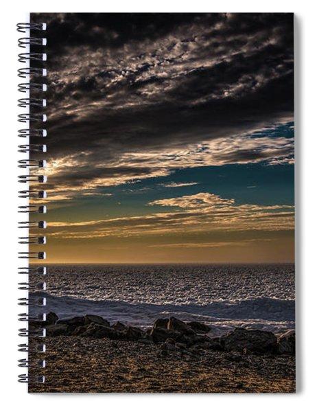 Sun Peeks Through Spiral Notebook