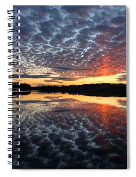Sun Pillar At Sunset Spiral Notebook
