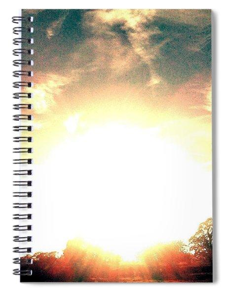 Sun Pyramid Spiral Notebook